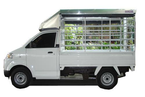 หลังคารถกระบะ Suzuki carry อลูมิเนียมแบบแท่งมีหลังคา แบบที่ 6